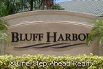 sign for Bluff Harbor