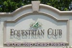 Equestrian Club community sign