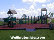 Smaller residents of The Isles at Wellington will enjoy having a playground within the community.