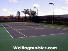 Enjoy an evening or weekend tennis match, then reax by the pool at The Isles Wellington.